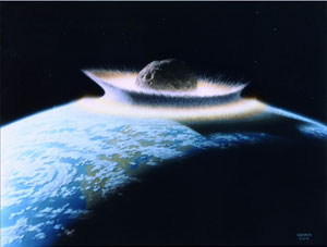 Don Davis: A planetoid plows onto the primordial Earth...